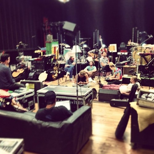 Rehearsal underway! (Taken by @sethfordyoung)