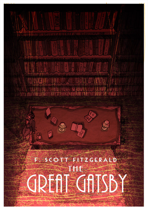 micamarsden:  A poster for The Great Gatsby by F. Scott Fitzgerald - my second favourite book in the world since I read it 3 years ago. I am /so excited/ for the new movie I cannot tell you. The colours actually came out pretty weird when I changed the mode from CMYK for printing, to RGB for web… MicaM