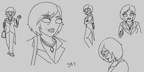 in case you've missed this, these are pics of Barbra (this AU's fem-crowbar) that were attached at the end of the fic posted a few weeks ago. A little older and a little grayer then she use to be (28 vs 38). the fic was going to be in comic form until i remembered that i'm not so good at drawing structure backgrounds and it started to look like butt.