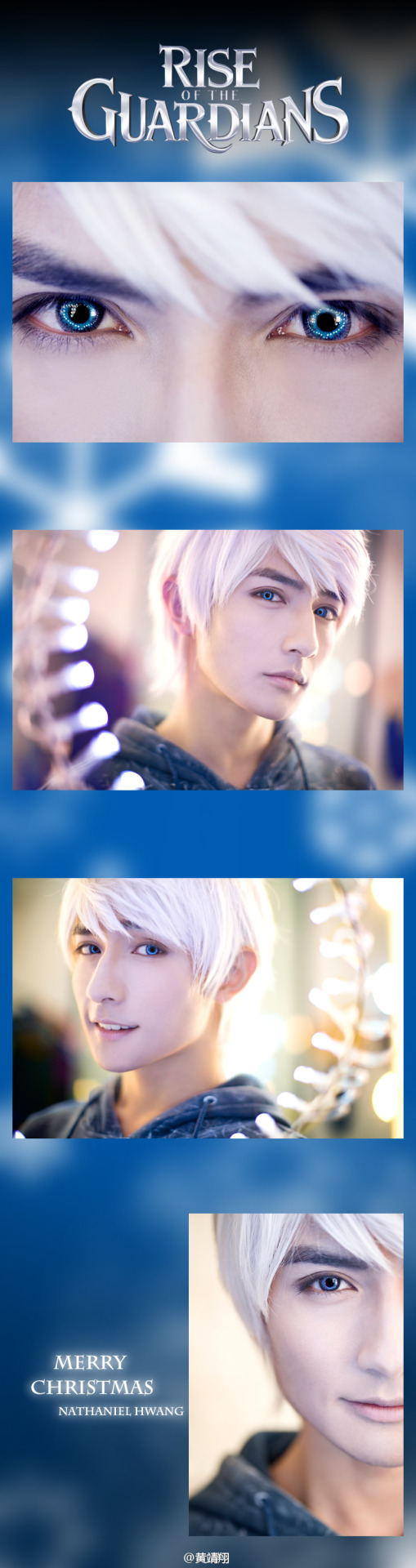 "ticktockdonttouchtheclock:   JACK FROST - Cosplay by-  Nathaniel Hwang  OH NO HE'S HOT.  ""Why does everybody say I'm hot? I mean, I'm Jack Frost! I'm cold."""