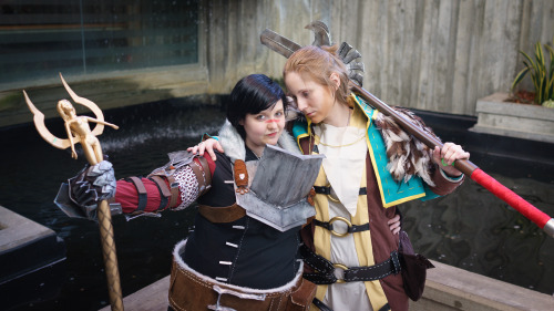 fearandlothering:  Marian Hawke & Anders, DA2 | Sakuracon 2013 | Photography: Tom Good HOLY SHIT?! I cannot handle this convention anymore. I love everything too much. Anders' obsessive longing look here is like my favorite thing in the world; Kiwi's Anders just floors me, I am not fucking worthy. Ahh. Hawke: fearandlothering (yep, that's me)Anders: Kiwi (get a tumblr, Kiwi, GOD.)