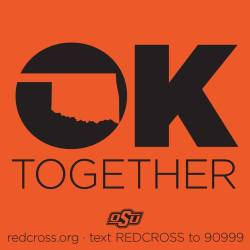 Text REDCROSS to 90999 to donate $10.  The charge will be added to your monthly phone bill.  Every bit counts. XOXO Oklahoma XOXO