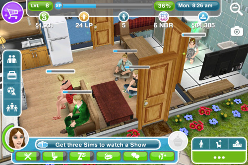 totallygonnabangholly:  So I've been playing sims on my phone and I used all my friends that are always at my house anyways, and this is a perfect representation of what it looks like when we watch a movie irl, notice I'm in the bathroom.