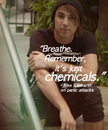 """Breathe. Remember, it's just chemicals.""         -Alex Gaskarth on panic attacks"