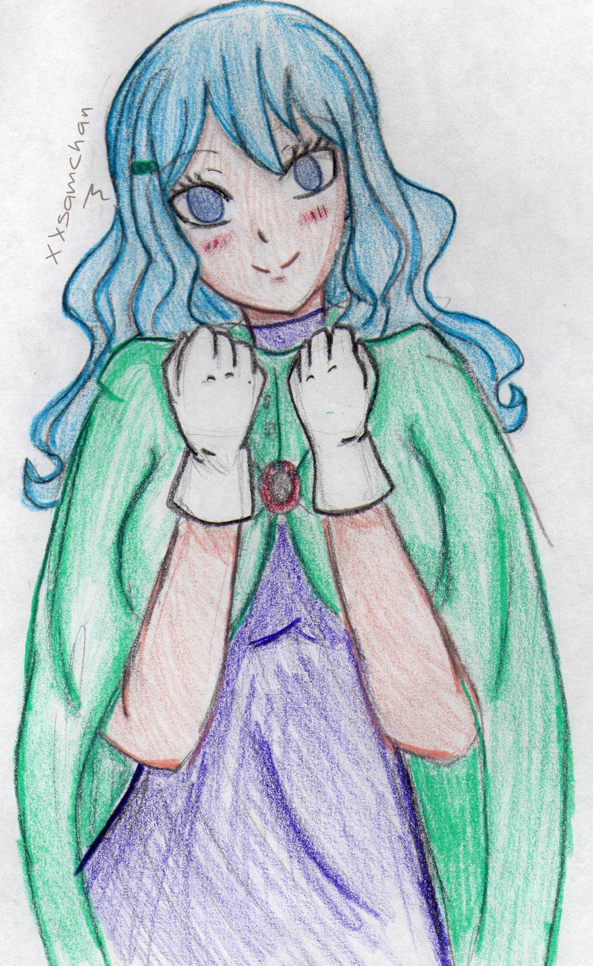 Juvia, my traditional style again :D yeah, I know…  The colors of the clothes, do not combine xD Sorry :3