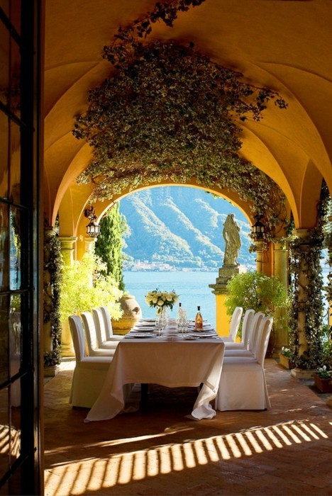 Patio View, Lake Como, Italy photo via pat