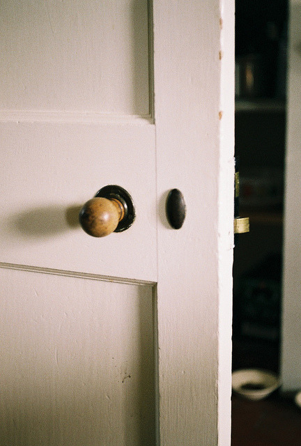 emptieds:  kitchen door by no penny for them on Flickr.