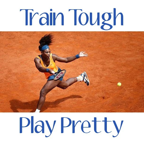 "Train Tough. Play Pretty. Serena Willaims ""serving"" major face in this recent performance photo. ""I've been pretty consistent, and pretty healthy — knock on wood,"" says Williams. #SerenaWilliams #Tennis #PrettyGirlsSweat #PGS #Sweatspiration #Fitspiration #fit #motivation #WeightLoss #CleanEating #healthy #body #Health #Fitspo #Sweatspo #Sweat #Exercise #Workout #Fitness #Fitspired"