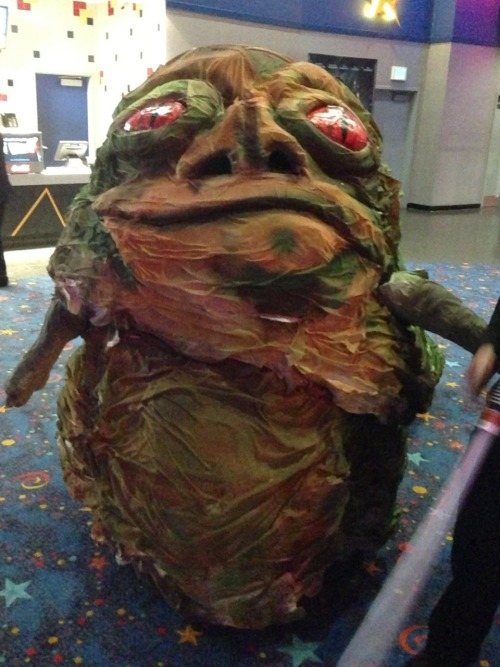 So I ran into Jabba the Hutt last nightWe had just finished watching Star Trek Into Darkeness and ran into a group of Star Wars cosplayers…View Post