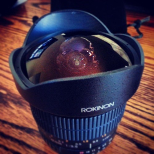 8mm Lens. Fisheye baby!