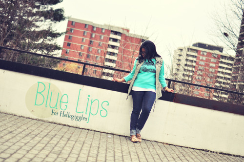 BLUE LIPS: MILITARY CHICby Cymone Hartley http://bit.ly/183ouwp