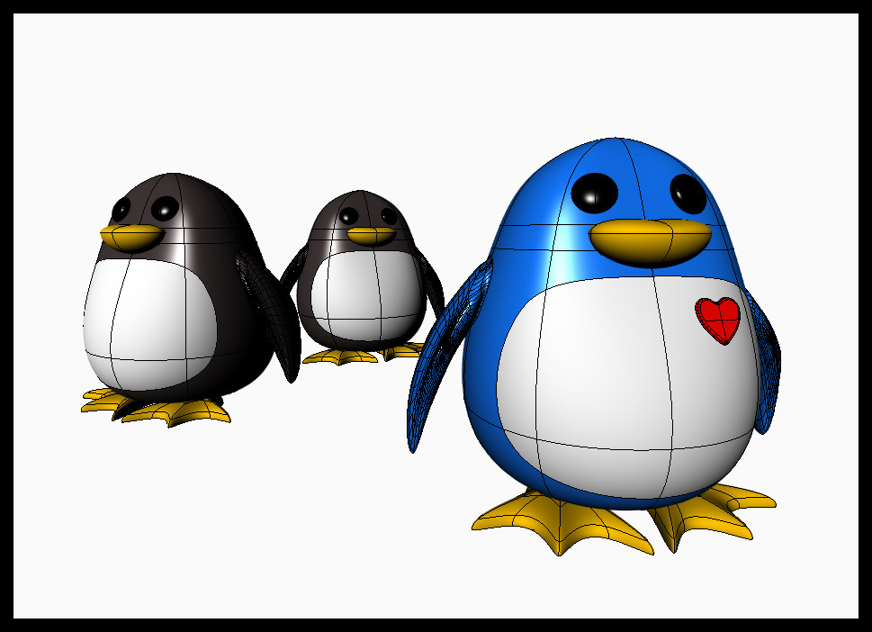 Happy Valentine's Day! Roses are red, Penguins are blu3…well, not really, but today this one is. And it's just for you. Thanks for following ^_^