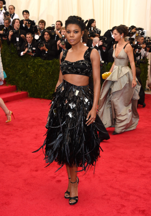 celebstarlets:    5/5/14 - Gabrielle Union at the 2014 Met Gala in NYC.