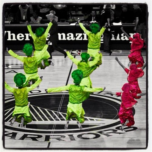 Let's make amazing happen one more time! Go Warriors! #tbt #bhangra #bhangraempire #warriors #nba #basketball #playoffs #dance #punjab #punjabi #jumps