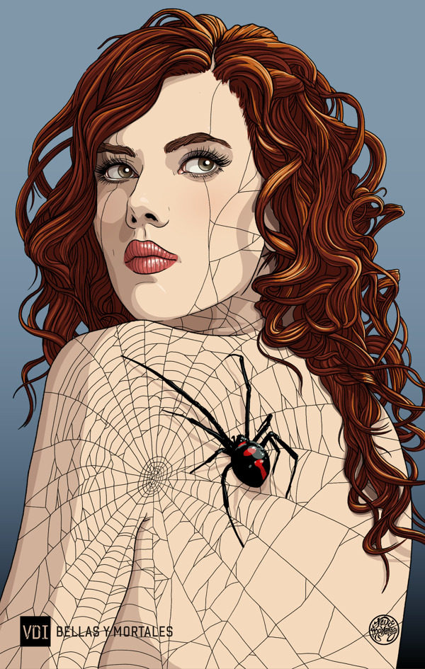 Black Widow by Tavo Montañez Prints available at Society6