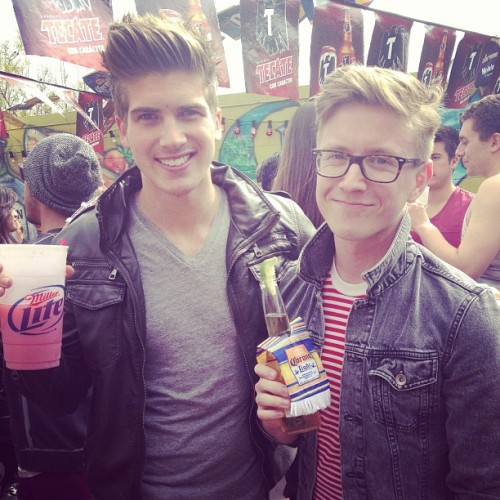 tyleroakley:  Getting sloppy and turning Cinco de Mayo into Cinco de BYEo with my boy Joey Graceffa!