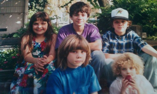 my siblings and i, i was a little grunge kid