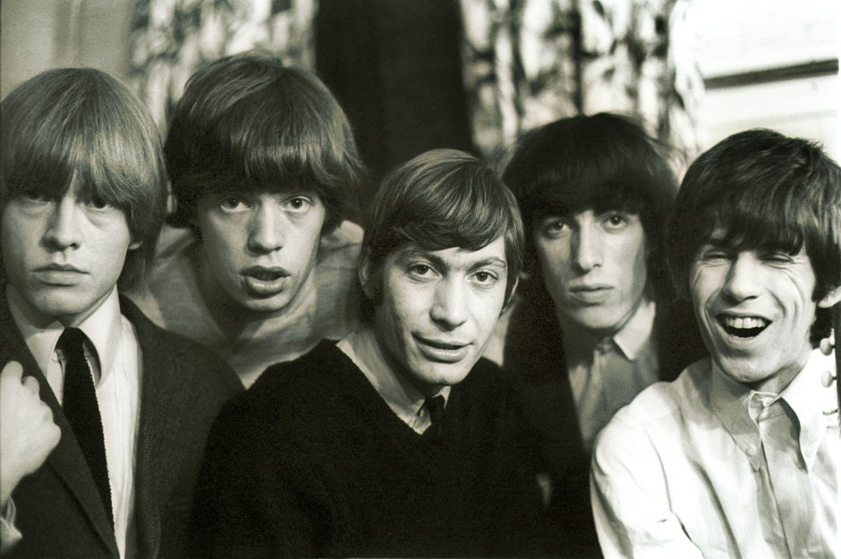 BRIAN JONES, MICK JAGGER, CHARLIE WATTS, BILL WYMAN et KEITH RICHARDS