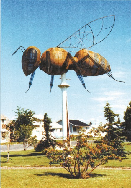 World's largest bee, Falher, Alberta