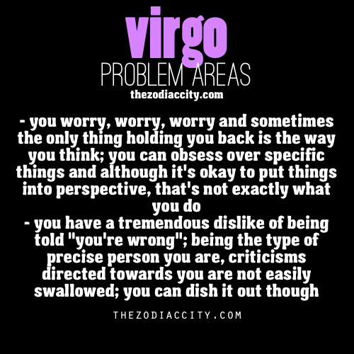 zodiaccity:  Zodiac Virgo problems.