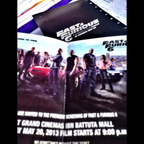 Fast and the Furious 6 Premier Night tonight at In Battuta Mall.. #fastandthedurious6 #vindiesel #ff6 #premiernight #cinema #ibnbattuta #imax #dubai  #uae