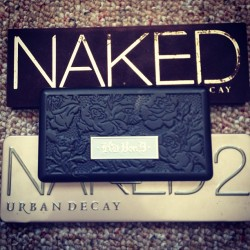 Love my #makeuppalettes . #urbandecay #katvond #nakedpalette #makeup #girlthings