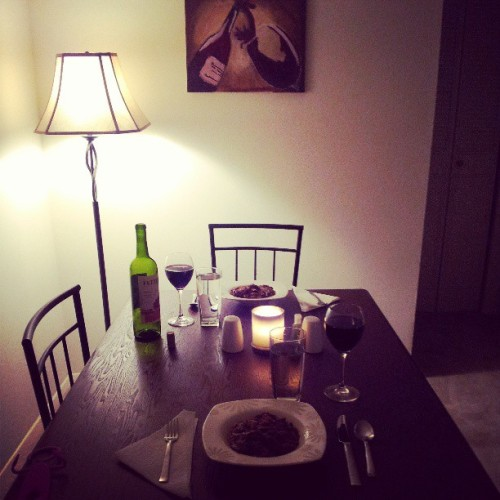 Boyfriend made me dinner For my bday!! #romantic #dinner #bday #birthday #may