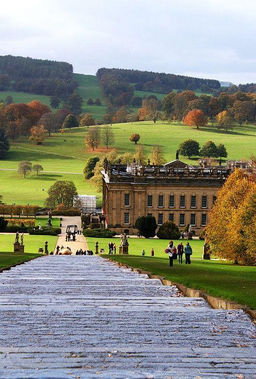 fuckitandmovetobritain:  inyour-soul:  England | via Facebook on We Heart It  Chatsworth House