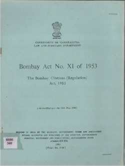 1953 the bombay cinemas (regulation) act