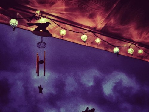 Windchimes In The Rain#dusk #filtered #awesome #Florida #clouds #rainstorm #spring #snapseed(from @wuffster on Streamzoo)