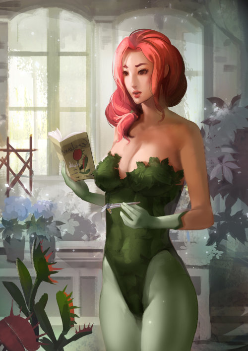 youngjusticer:  Poison Ivy: capable of watering your pants. Morning Ivy, by Narongchai Singhapand.