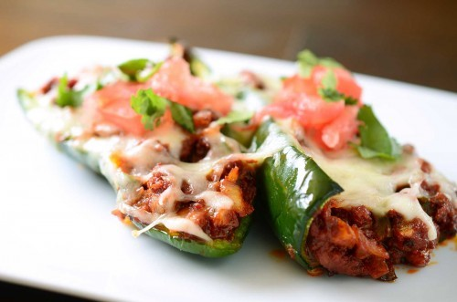 foodopia:  chorizo stuffed poblano peppers: recipe here