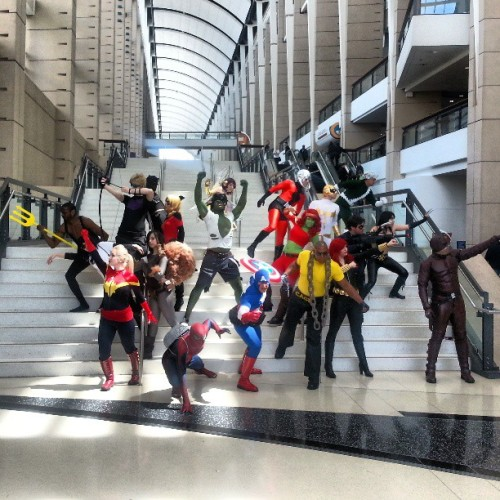 Totally awesome @Marvel #cosplay group at @c2e2. #MarvelC2E2 #comics