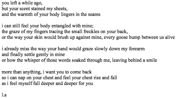 new-arrangement:  stupid poem written by me yay