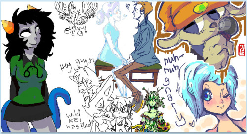 Doodle Party 4 All colors by me, all lines done by internet randoms <3