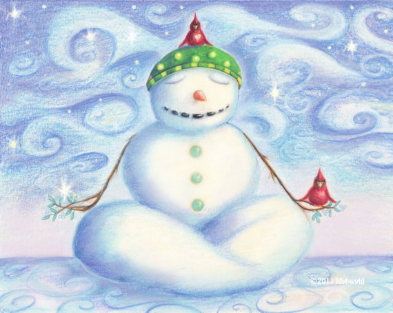 Take some time this holiday season to meditate on all the blessings in your life and have a wonderful, peace-filled Christmas! Also, check out these great yoga loving snowmen notecards on Etsy!