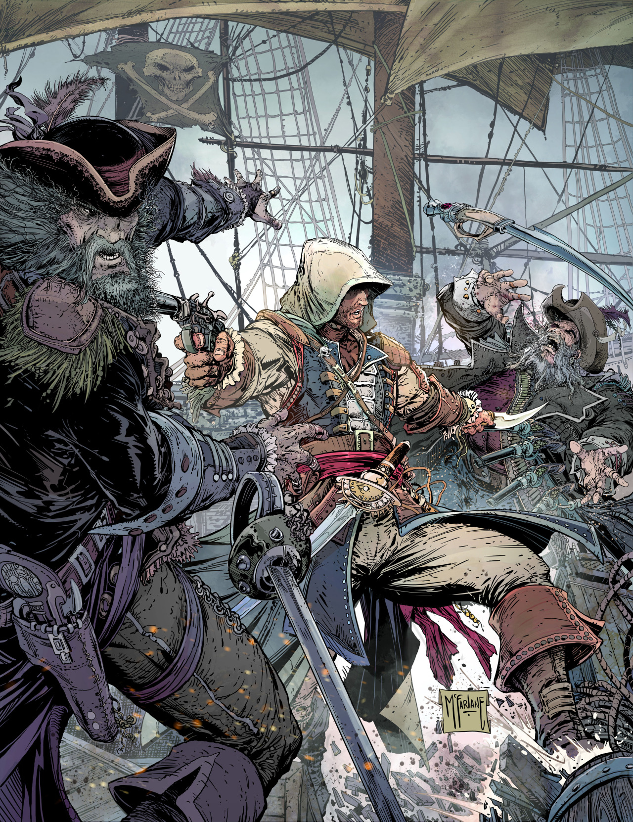 Biggus [Dickus] Assassin's Creed IV: Black Flag poster by Todd McFarlane Descarga aquí con mejor resolución: http://image.noelshack.com/fichiers/2013/13/1364498443-aciv-black-flag-x-todd-mcfarlane.jpg