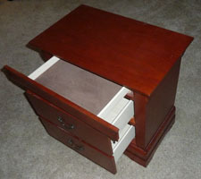 Secret compartment drawer in nightstand