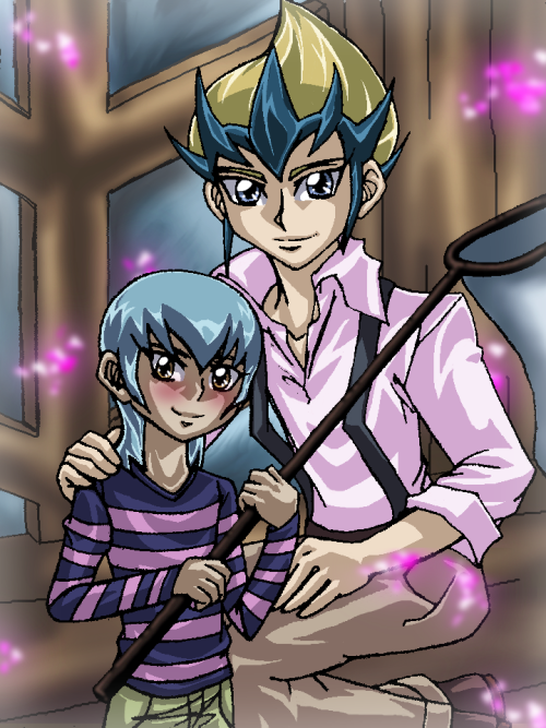 yaminerua:  So IVMysteryNumbers did a drawing of Kaito and Haruto and I couldn't help myself. I haven't coloured anything this way in a while and I wanted to try it again and it took a little time but I kind of remembered what I'm doing? Ah but I got so distracted by Kaito's face. In the end though I'm pretty happy with it~I love doing collab-type thingies like this~ So yes~ original lineart by ivmysterynumbers and the rest by me~ Thank you so much for letting me colour this, Kay~