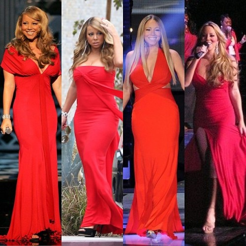 #mariahcarey in #red #fashion