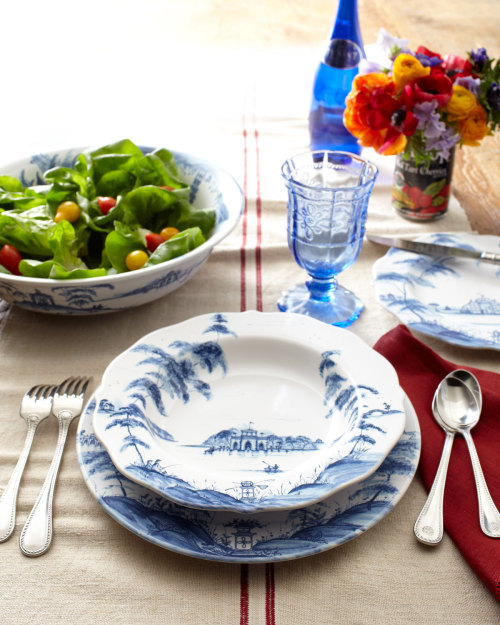 "A feast for the eyes and for the table, Juliska's ""Country Estate"" dinnerware."