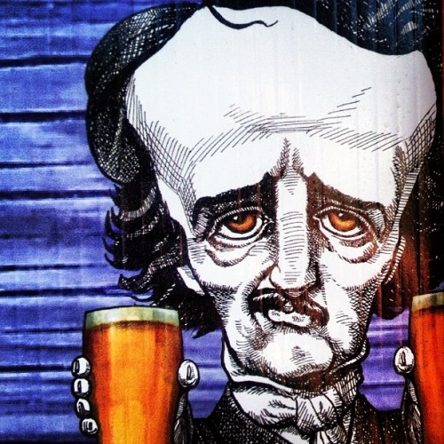 Edgar Allen #Poe. With #beer. #fellspoint #md #baltimore