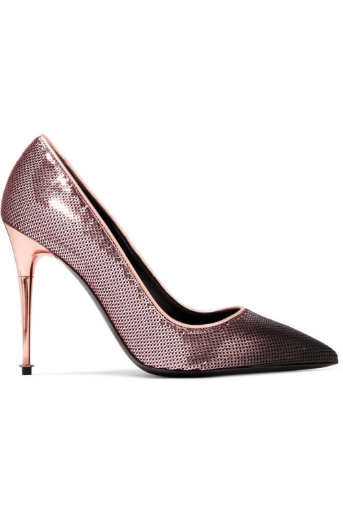tom ford ombre sequin pink pointed toe heels
