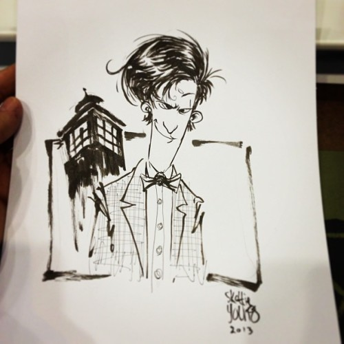 skottieyoung:  Doctor Who sketch #c2e2