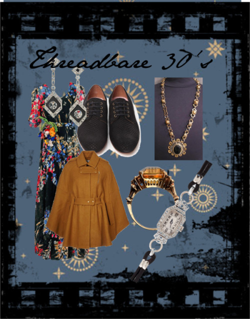 Threadbare 30's by titanic1912 featuring lace shoes