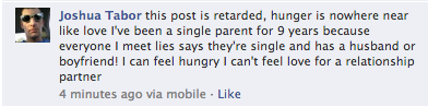 a comment on a taco bell status update