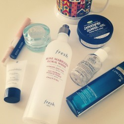 This month's #beautyempties.  #byebye #beauty #skincare #makeup #beautyjunkie #lush #labcome #kiehls #dior #fresh #bobbibrown #maybelline #smashbox