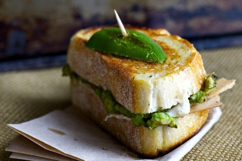 prettybalanced:  Avocado and Jalapeño Grilled Cheese Sandwich