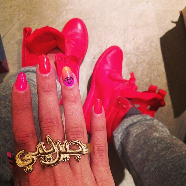 #melodyehsani x #jeremyscott Farsi 3 finger ring avail now! www.melodyehsani.com  (at Melody Ehsani Design)