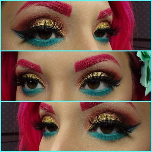 justaddheels:  #motd using @sugarpillmakeup #goldilux @inglot_usa #kryolan supracolor #makeup #makeupoftheday #makeupartist #makeuplovers #makeupaddicts #mayamiamakeup #sugarpill #inglot